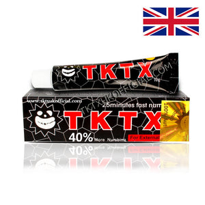 TKTX 40% Black Numbing Cream Anesthetic 4-5 hours Fast Semi Permanent Skin Body Duration 10g