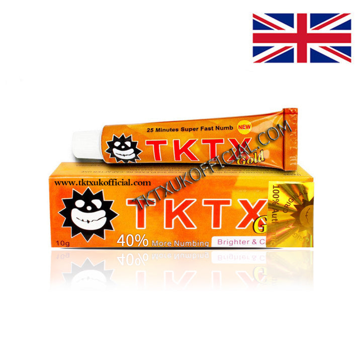 TKTX 40% Gold Numbing Cream Anesthetic 4-5 hours Fast Semi Permanent Skin Body Duration 10g