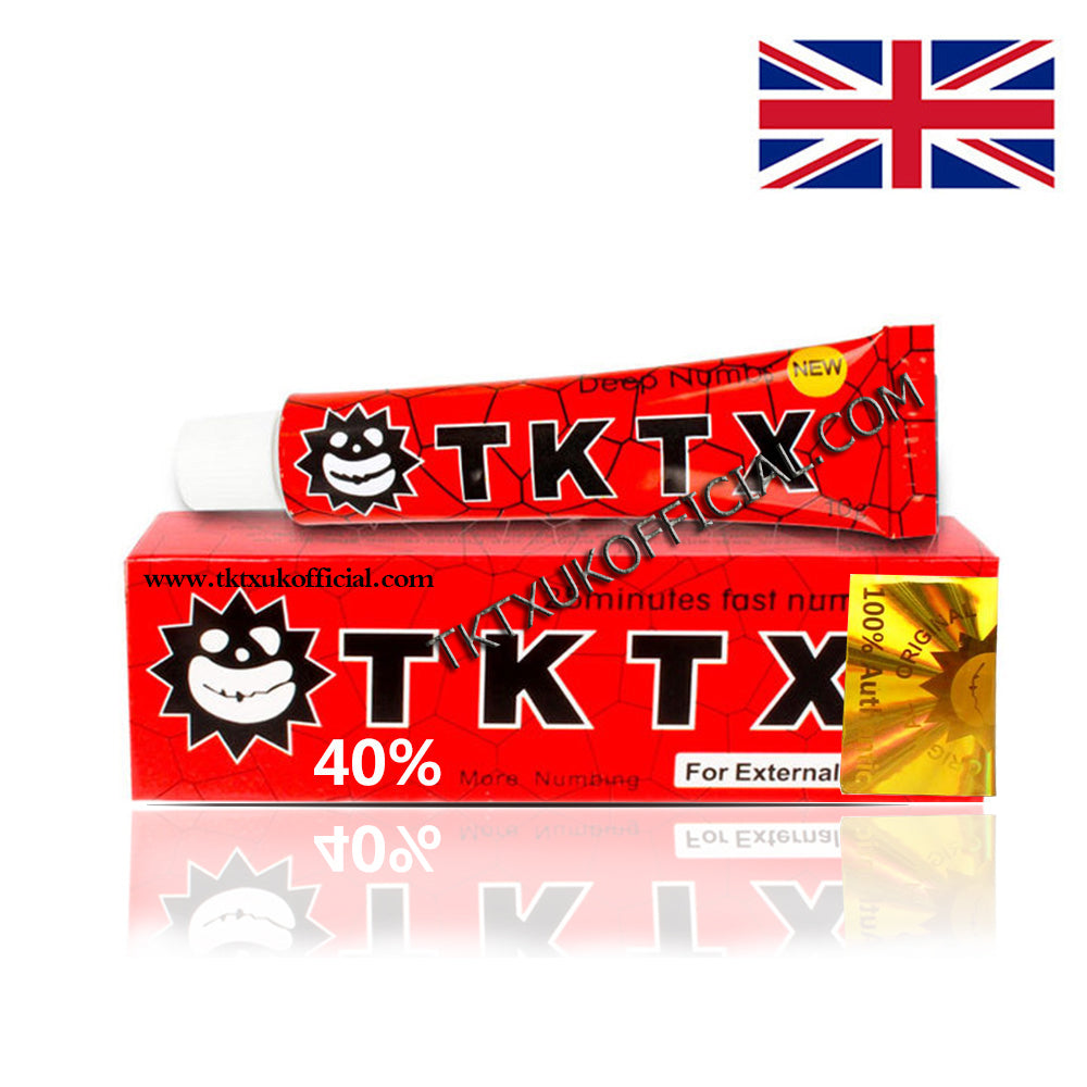 TKTX 40% Red Numbing Cream Anesthetic 4-5 hours Fast Semi Permanent Skin Body Duration 10g