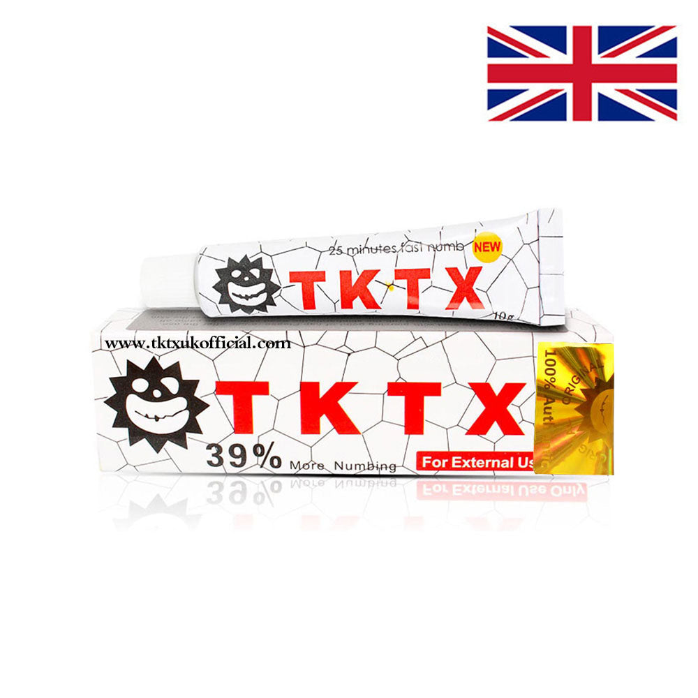 TKTX 39% White Numbing Cream Anesthetic 3-4 hours Fast Semi Permanent Skin Body Duration 10g