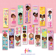 Load image into Gallery viewer, Amali - Football Girl - Mixed Race kids Bookmarks | Fefus designs