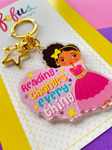 Reading Changes Everything Lg -  Keyring/ Bag Charm | Fefus Designs
