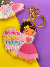 Load image into Gallery viewer, Reading Changes Everything Lg -  Keyring/ Bag Charm | Fefus Designs