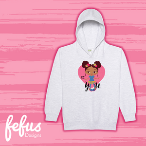 Lil Fashionista Afro Puffs Girls Baby Hoodie