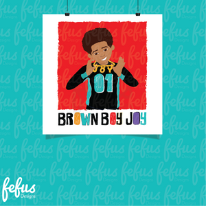 Brown Boy Joy Lb Wall Art
