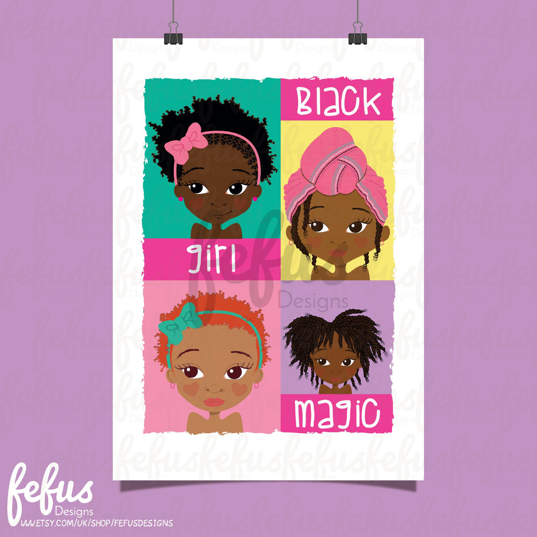 BLACK GIRL MAGIC WALL ART