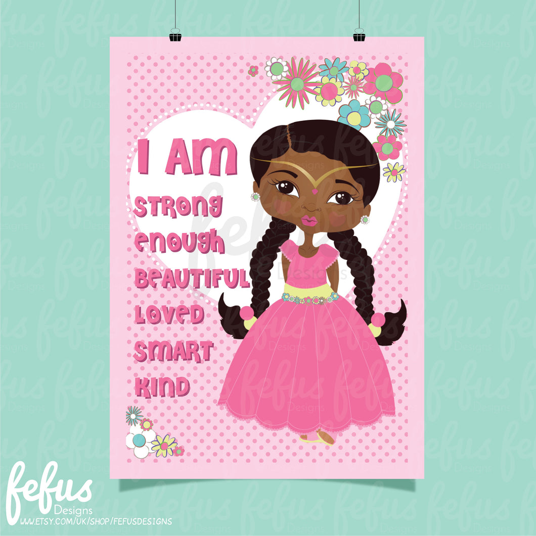 PRINCESS AFFIRMATION WALL ART