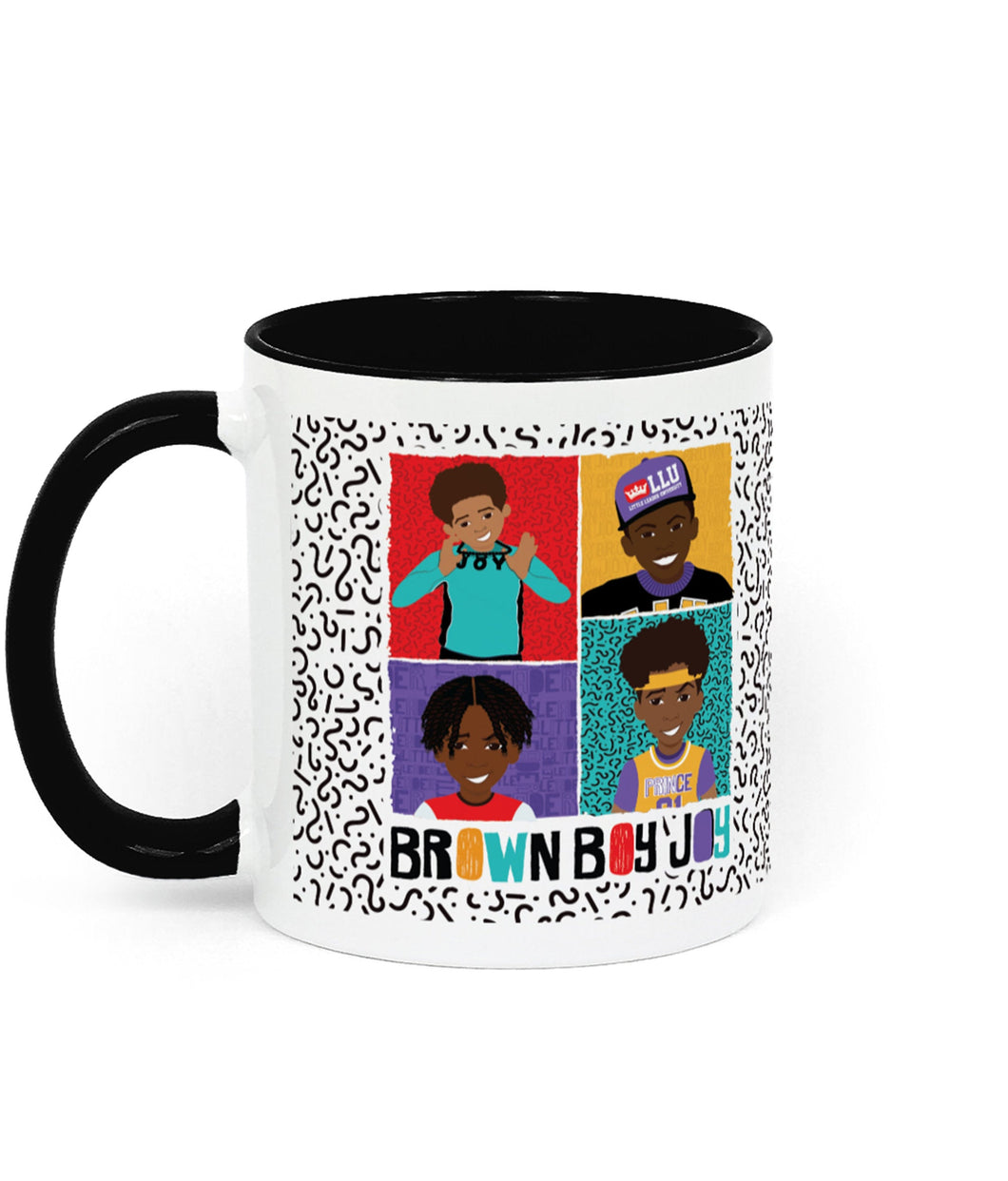 4 Brown Boys Two Toned Ceramic Mug