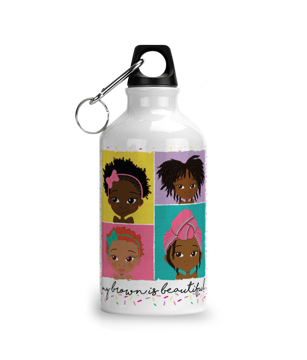 4 Brown Girls Water Bottle