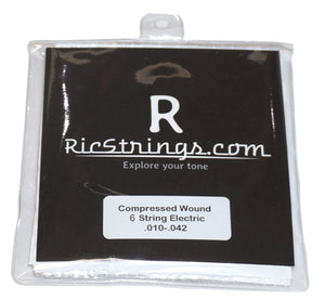 RicStrings.com Compressed Wound Six String Electric Strings .010-.042