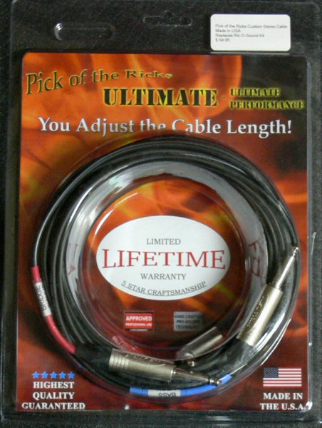 Custom 20' Stereo Insert Cable