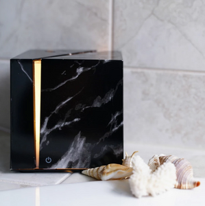 Black marble grain Ki Ultrasonic essential oil diffuser candid 2