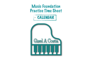 Music Foundation - Practice Calendar