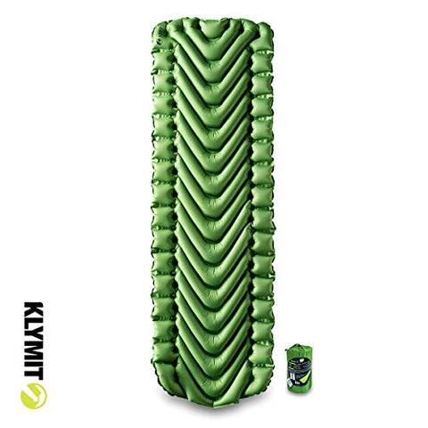 KLYMIT STATIC V Sleeping Pad, Lightweight, Outdoor Sleep Comfort, Best Camping Gear for Backpacking and Hiking, Inflatable Camping Mattress