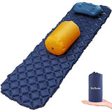 HuTools Sleeping Pad for Camping with Pillow Inflatable Sleeping Pad for Backpacking Inflatable Camping Mattress for Sleeping Bag Pad Camping Pad for Travel & Hiking Pump Sacks Included