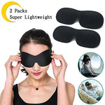 YOROZUCERY Silk Sleep Mask Soft and Comfortable Night Blindfold Eyeshade 3D Contoured Eye Mask for Sleeping, Travel, Shift Work, Naps for Men and Women Black, Pack of 2