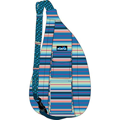 KAVU Original Rope Sling Bag Polyester Crossbody Backpack - Playa Stripe