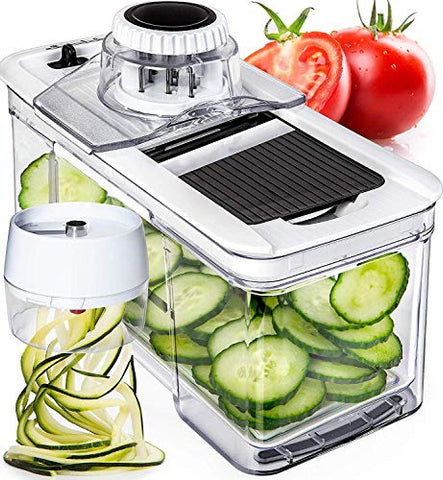 Adjustable Mandoline Slicer with Spiralizer Vegetable Slicer