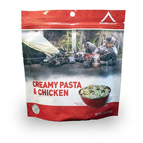 BaseKamp Freeze Dried Meal Creamy Pasta & Chicken (Single)