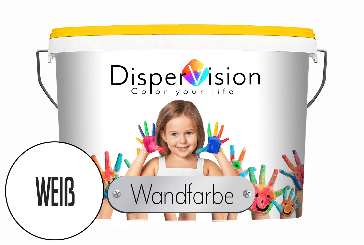 DisperVision Wandfarbe matt weiß - Dispersionsfarbe für innen - DisperVision