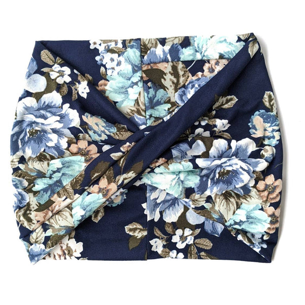 Navy Bouquet Floral Headband