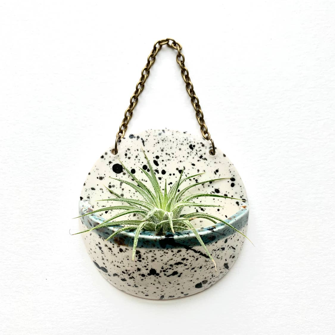 Ceramic Planter Pocket Black Splatter/Shipwreck
