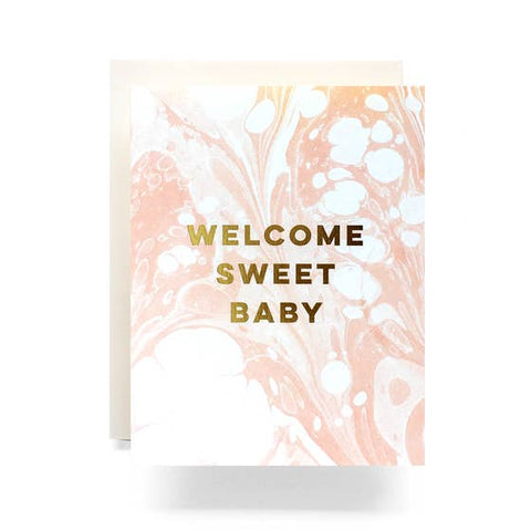 Marble Baby Card