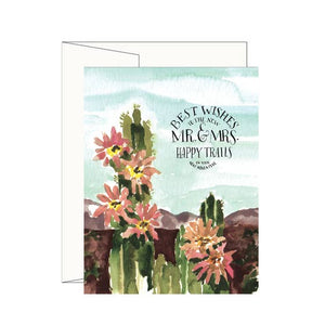 Cactus Mr & Mrs Card