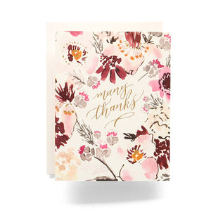 Floral Many Thanks Card