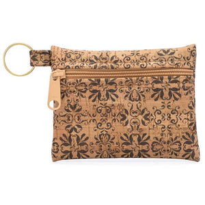 Gray Tile Key Chain Pouch