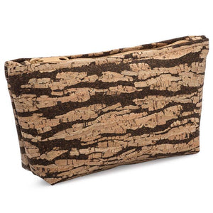 Bark Cork Medium Zip Pouch