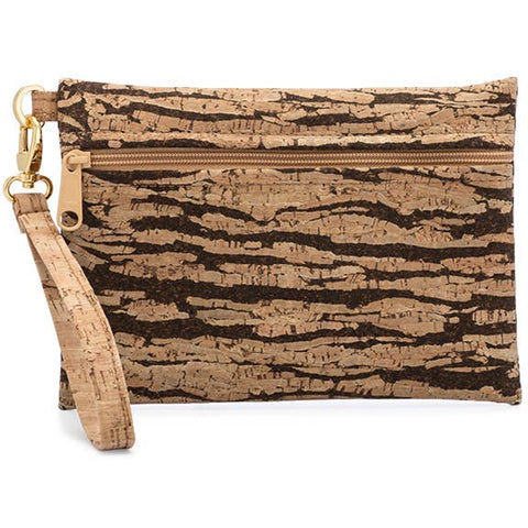 Bark Cork Wristlet Handbag