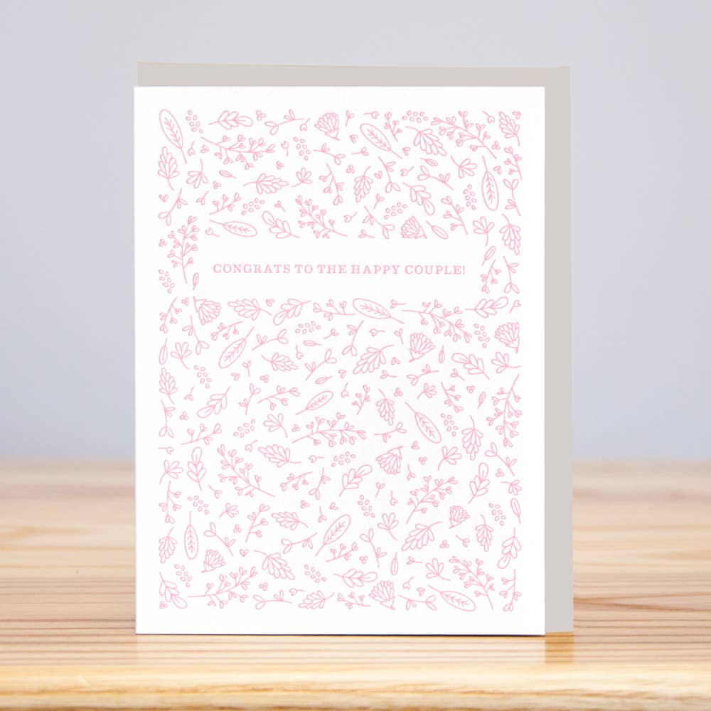 Congrats Happy Couple Card