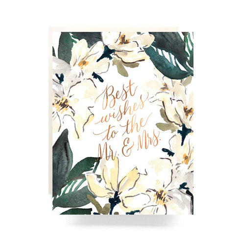 Magnolia Wedding Card
