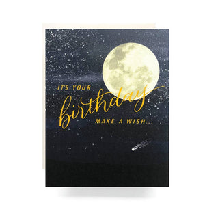Shooting Star Birthday Card