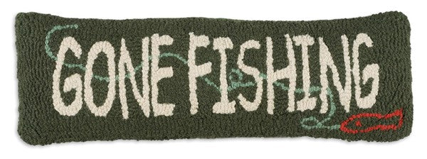 Gone Fishing Pillow 8 x 24""