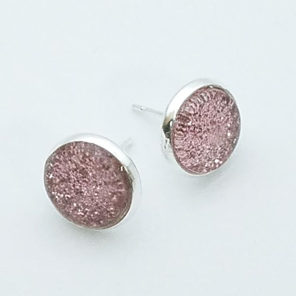 Shimmer Blush Stud Earrings