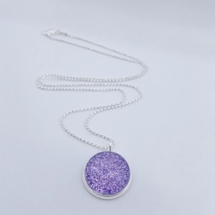 Shimmer Lilac Necklace