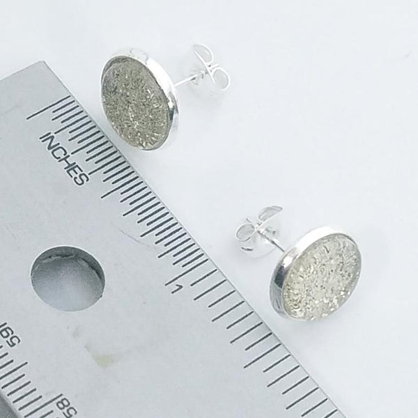 Shimmer Quartz Stud Earrings