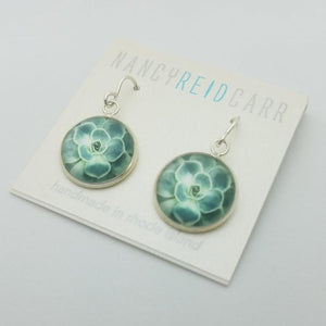 Succulent Green Drop Earrings