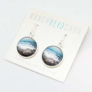 Aqua Sea Drop Earrings