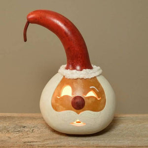 Kringle Santa Head Gourd Luminary