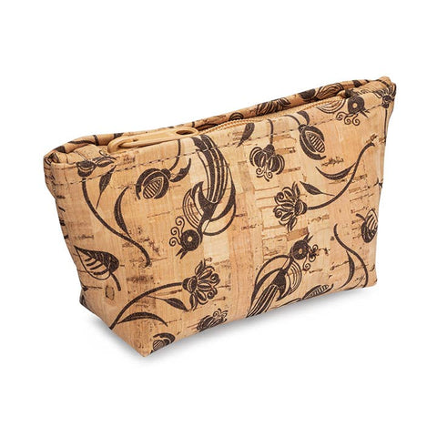 Brown Birds Print Small Zip Pouch