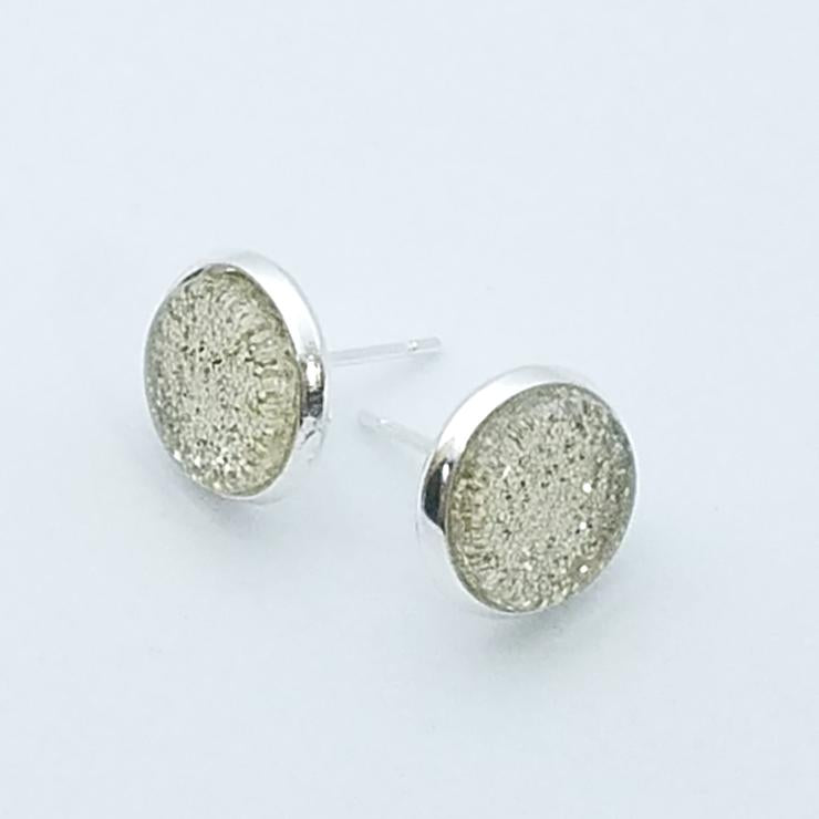 Shimmer Champagne Stud Earrings