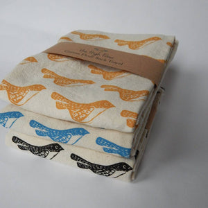 Blue Birds Tea Towel