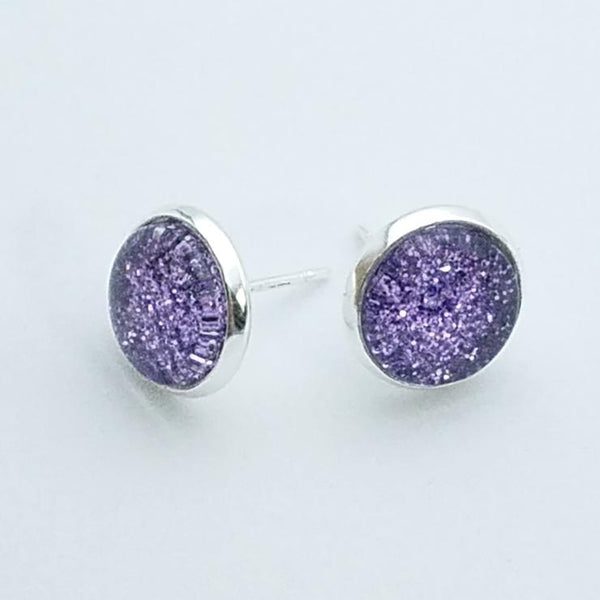 Shimmer Lilac Stud Earrings
