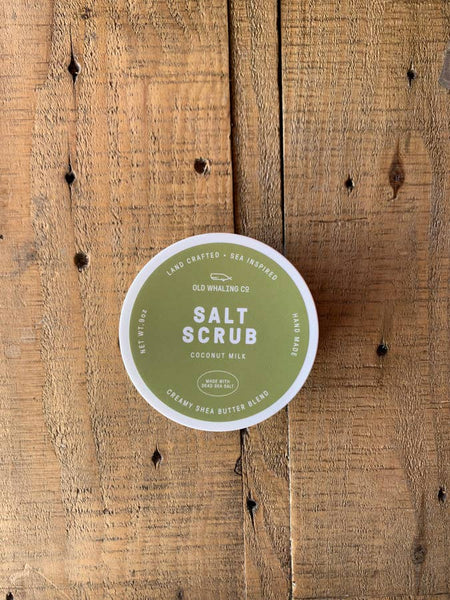 Coconut Milk Salt Scrub