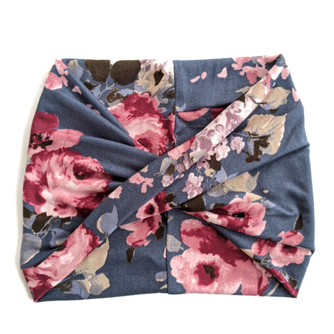 Denim Floral Headband