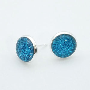 Shimmer Ocean Stud Earrings