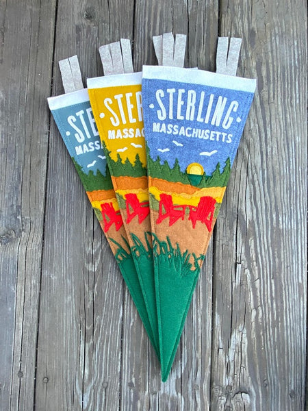 Mustard Sterling Sunset Pennant